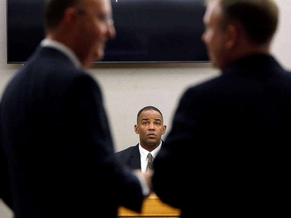 PHOTO: Texas Ranger David Armstrong testifies in fired Dallas police officer Amber Guygers murder trial, Sept. 25, 2019, in Dallas.