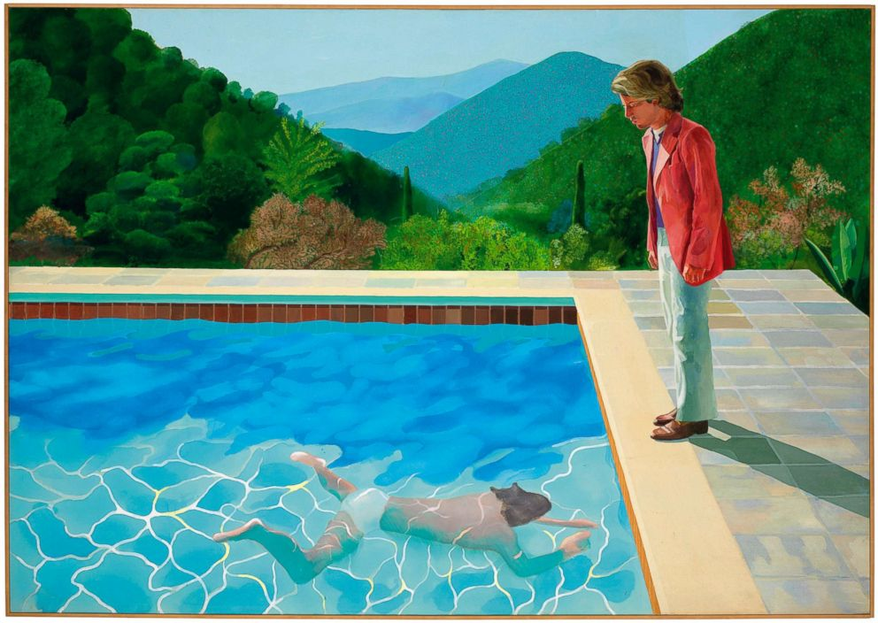 PHOTO: The 1972 painting entitled Portrait of an Artist (Pool with Two Figures), by British artist David Hockney.