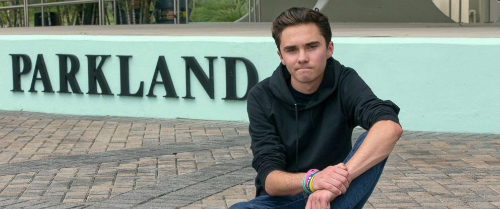 PHOTO: David Hogg, a senior at Marjory Stoneman Douglas High School, poses for a photo at Pine Trails Park, May 29, 2018, in Parkland, Fla.