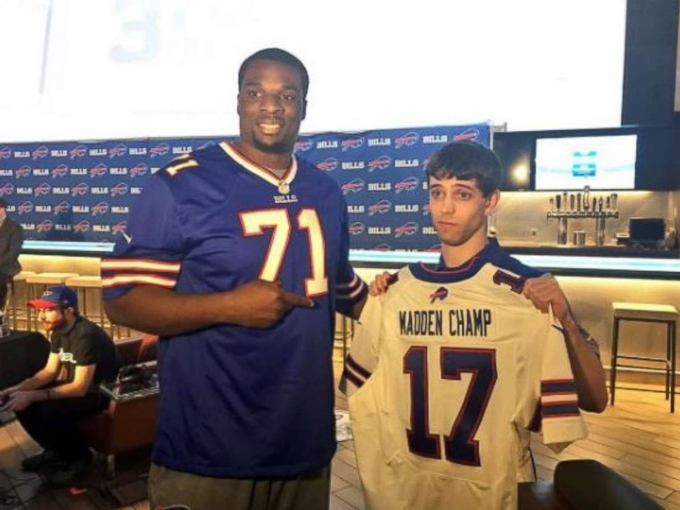 David Katz, right, has been identified by Jacksonville police as the suspected shooter at a Madden NFL esports tournament on Sunday, Aug. 26, 2018. Two people were killed and Katz committed suicide, police said.