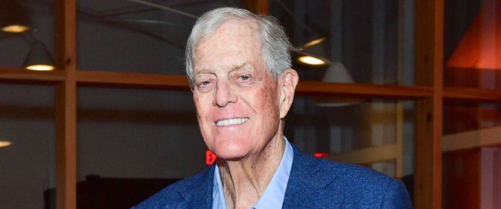 Charles David Koch We Know Who You Are >> Billionaire Conservative Icon David Koch Dies At 79 Abc News