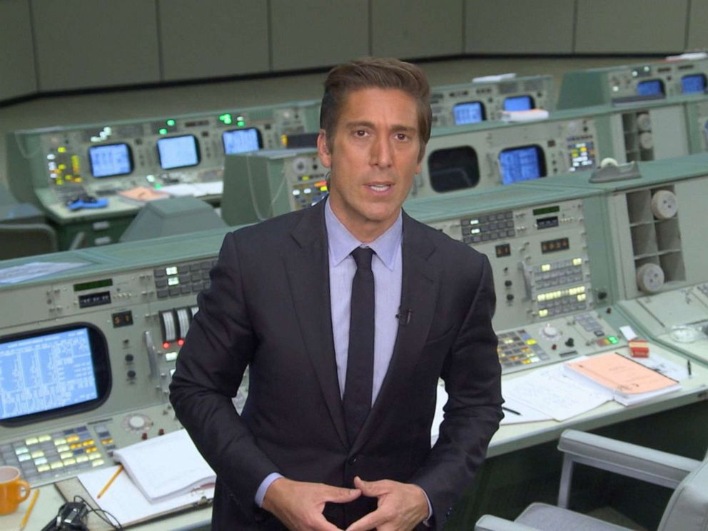 PHOTO: David Muir traveled to Apollo Mission Control in Houston to celebrate the 50th anniversary of the U.S. landing on the moon.