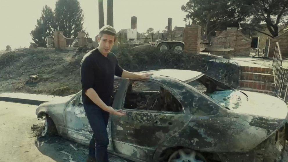 David Muir surveys the devastation in Ventura County, Calif.