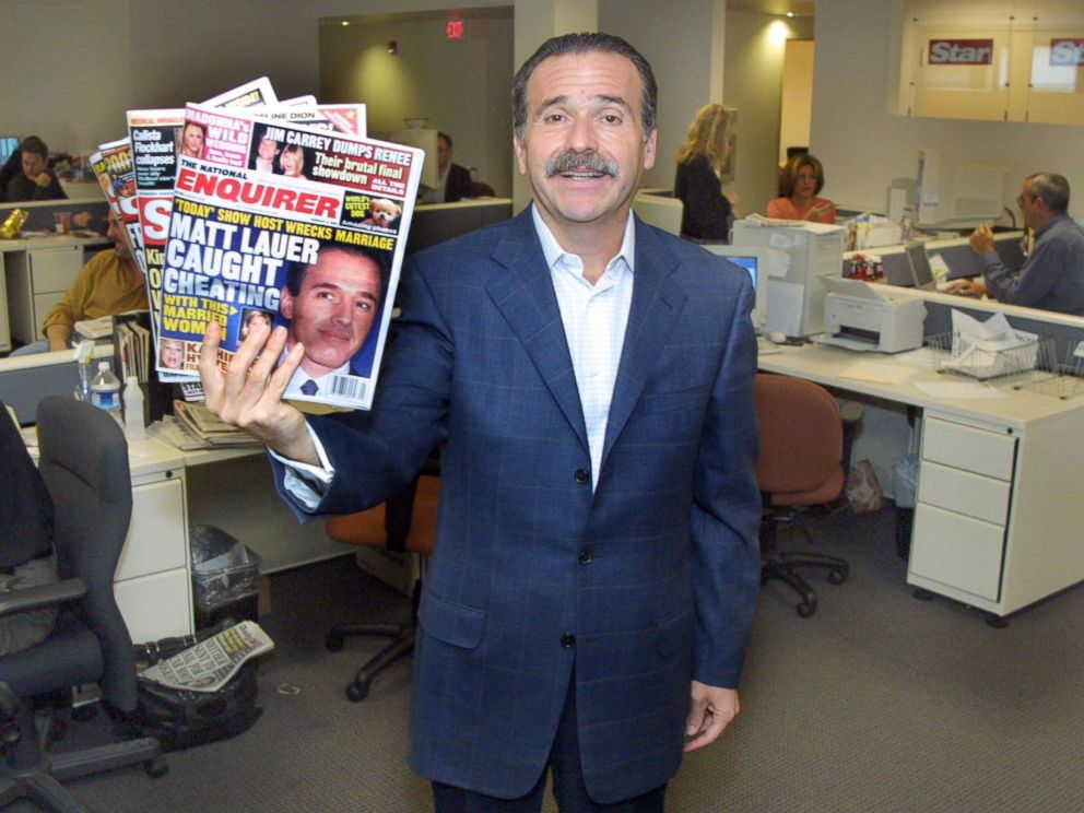 PHOTO: David Pecker, CEO of American Media Inc., poses for a photo in Boca Raton, Fla., Dec. 12, 2000.