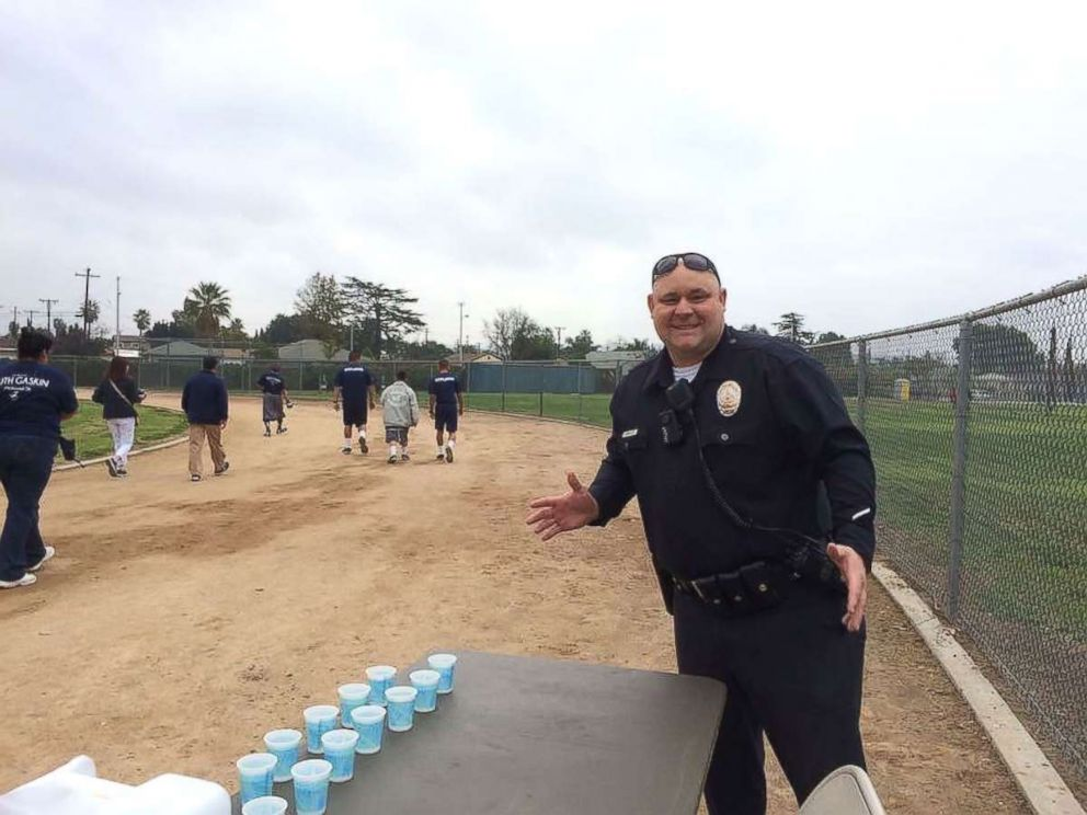 PHOTO: David Swailes at an LAPD Special Olympics event.