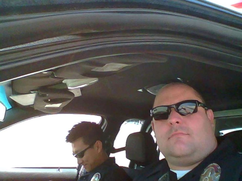PHOTO: David Swailes taking a selfie on patrol.