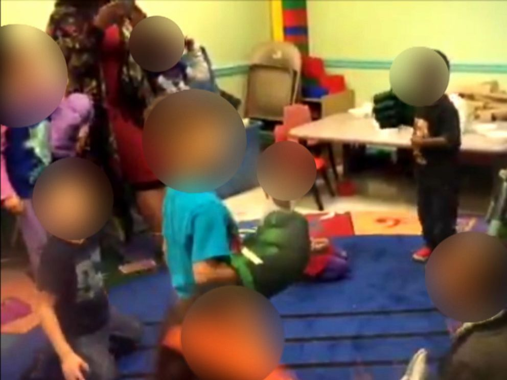PHOTO: Surveillance and iPad footage captured teachers encouraging preschool-age children at a day care center in St. Louis, Missouri, to fight each other.