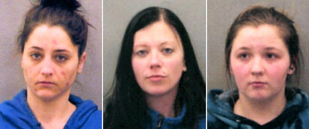 PHOTO: Ashley Helfenbein, left, Kristen Lauletta and Jessica Heyse, right, are seen in these undated police handouts.