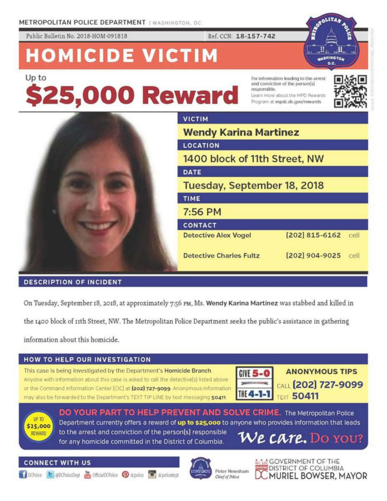 Stabbed 7 times, DC jogger Wendy Karina Martinez 'fought up to the