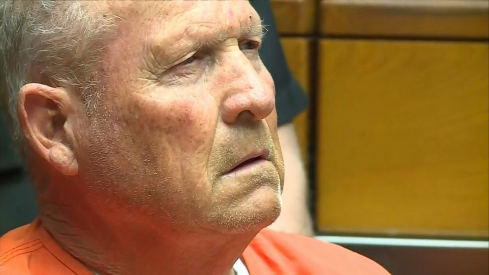 "The 72-year-old suspected ""Golden State Killer,"" was arraigned in a Sacramento County court, April 27, 2018."