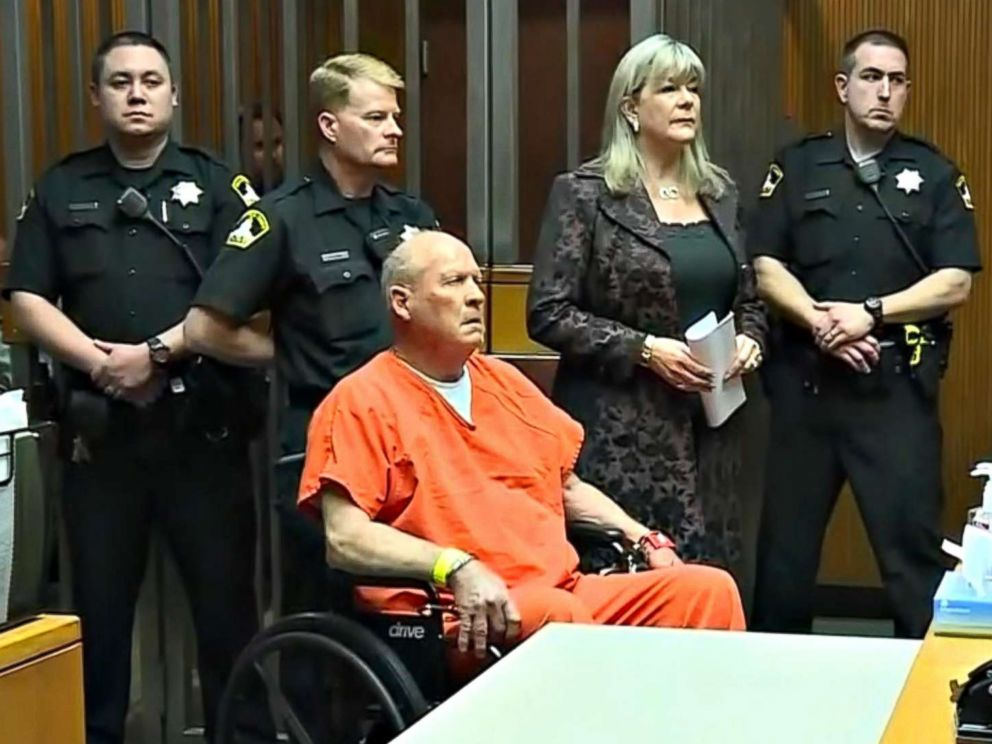 PHOTO: Joseph DeAngelo, accused of being the Golden State Killer in the 1970s and 1980s and the East Area Rapist, appears in a Sacramento, Calif. courtroom, April 27, 2018.