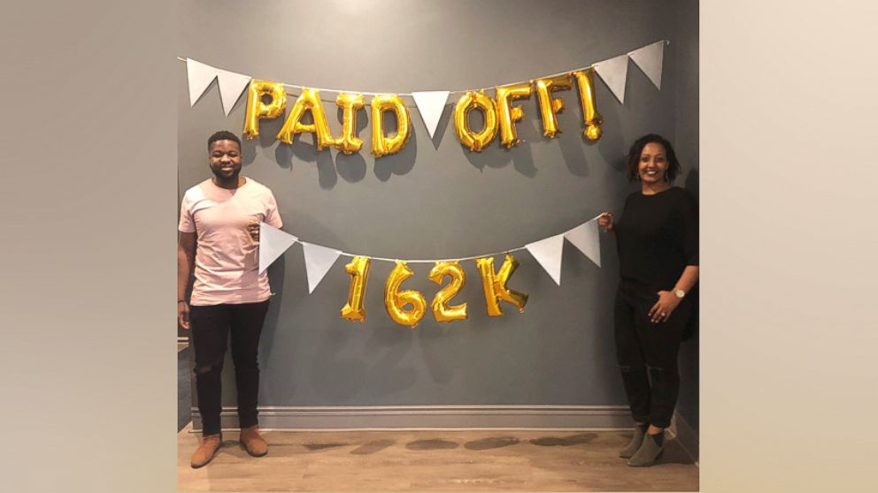 """Elijah Bankole, 30, and Heron Abegaze, 29, shared how they paid off $160,000 in debt in less than three years on """"GMA."""""""