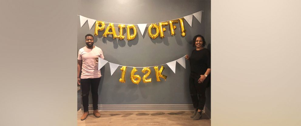 """PHOTO: Elijah Bankole, 30, and Heron Abegaze, 29, shared how they paid off $160,000 in debt in less than three years on """"GMA."""""""