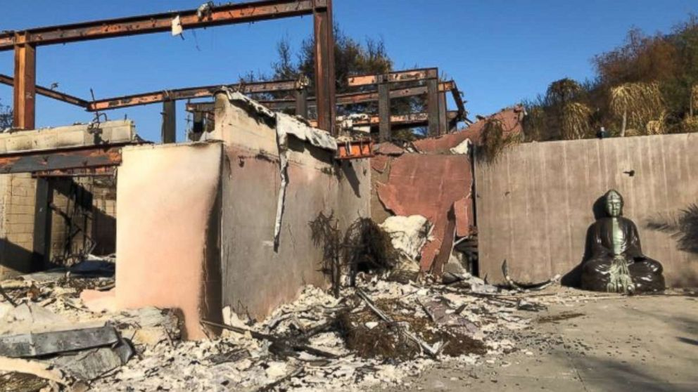 Yvonne DeLaRosa Green's home in Malibu, Calif., was destroyed by the Woolsey Fire.