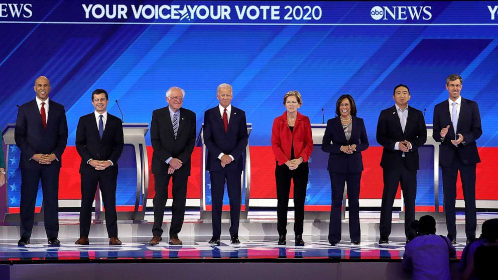 Democratic debate live updates: Candidates assail Trump on