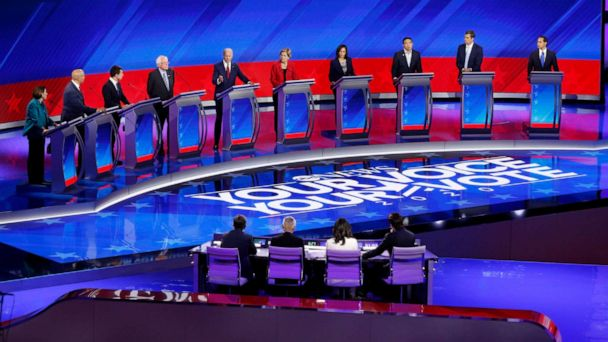 The Note: Democratic debate reframes race without reordering it