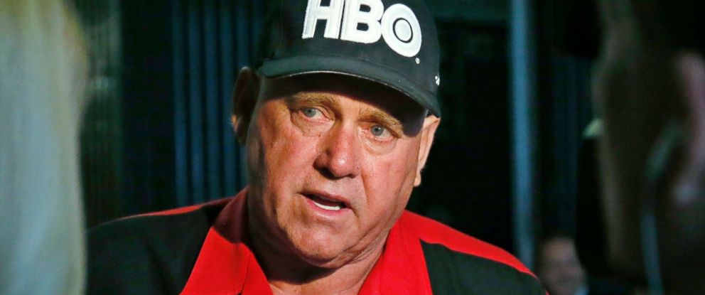 PHOTO: Dennis Hof, owner of the Moonlite BunnyRanch, a legal brothel near Carson City, Nevada, is pictured during an interview in Oklahoma City, June 13, 2016.