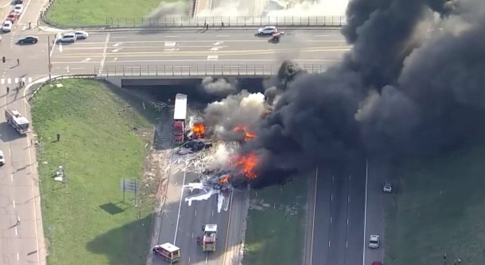 Image result for 2 killed after semi-truck exploded on highway!