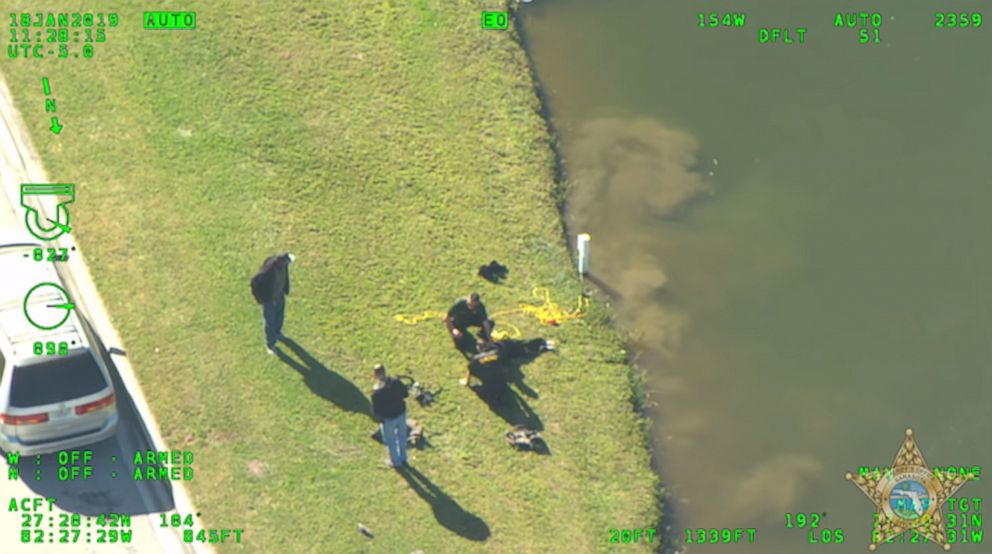PHOTO: The 18-year-old jumped into a lake to flee police, even though he couldnt swim.