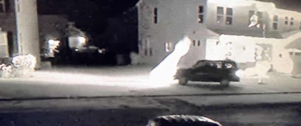 Video shows SUV mowing down home's Christmas decorations, blindsiding 12-foot snowman