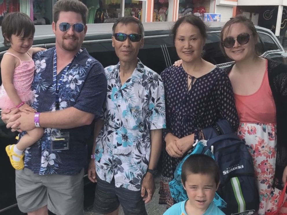 PHOTO: Yuanjun Cui, who has stage 4 cancer, and his wife, Huan Wang, were detained by U.S. Customs and Border Protection officers Monday after the Carnival cruise they were on docked in Jacksonville, Florida, their family says.