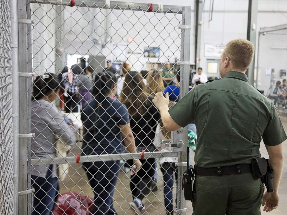 PHOTO: A view of inside U.S. Customs and Border Protection (CBP) detention facility in Rio Grande City, Texas, on June 17, 2018.