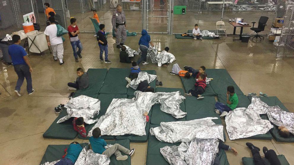 Children are pictured at Rio Grande Valley Centralized Processing Center in Rio Grande City, Texas, June 17, 2018.