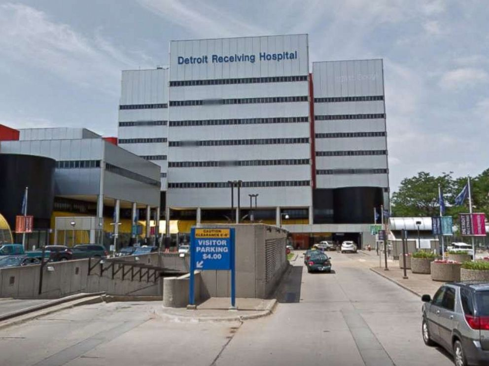 PHOTO: The Detroit Receiving Hospital is pictured in a Google Street View image from 2015.