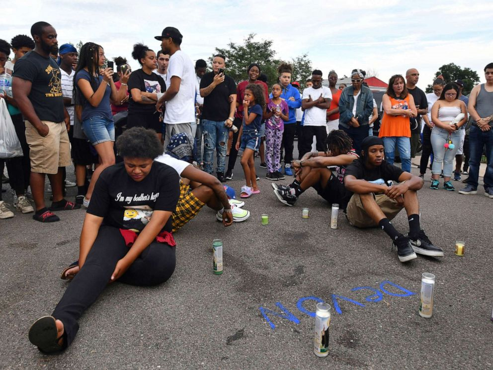 PHOTO: Family, friends and supporters of Devon Bailey gathered for a prayer and candlelight vigil on, Aug. 4, 2019 in Colorado Springs, Colorado.