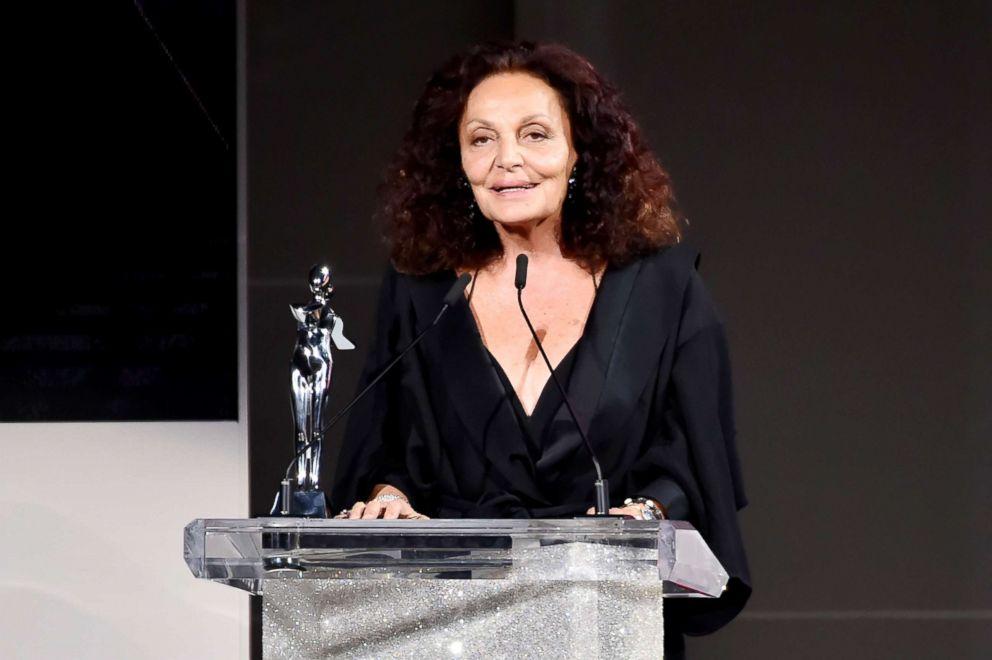 PHOTO: Diane Von Furstenberg accepts an award on June 4, 2018, in New York City.