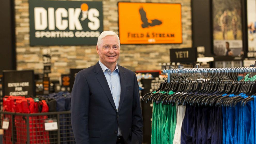 Chairman and CEO of DICK'S Sporting Goods Edward W. Stack visits a new store at the Baybrook Mall in Houston, Oct. 18, 2016.