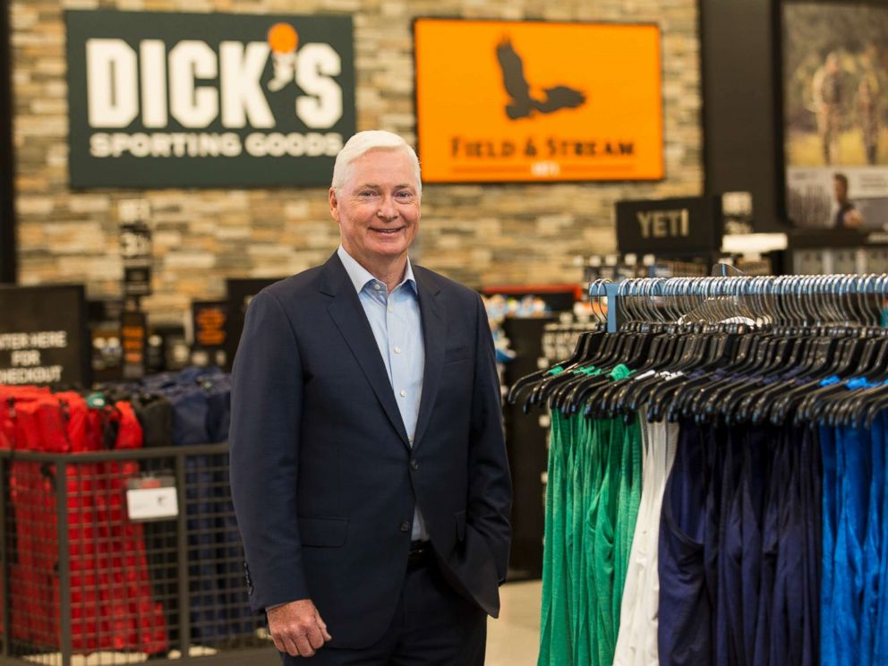 PHOTO: Chairman and CEO of DICKS Sporting Goods Edward W. Stack visits a new store at the Baybrook Mall in Houston, Oct. 18, 2016.