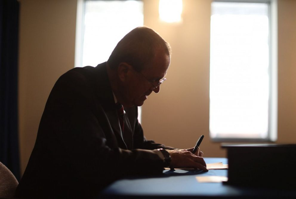 New Jersey Gov. Phil Murphy signed a bill that will allow terminally ill patients to end their own lives, April 12, 2019.