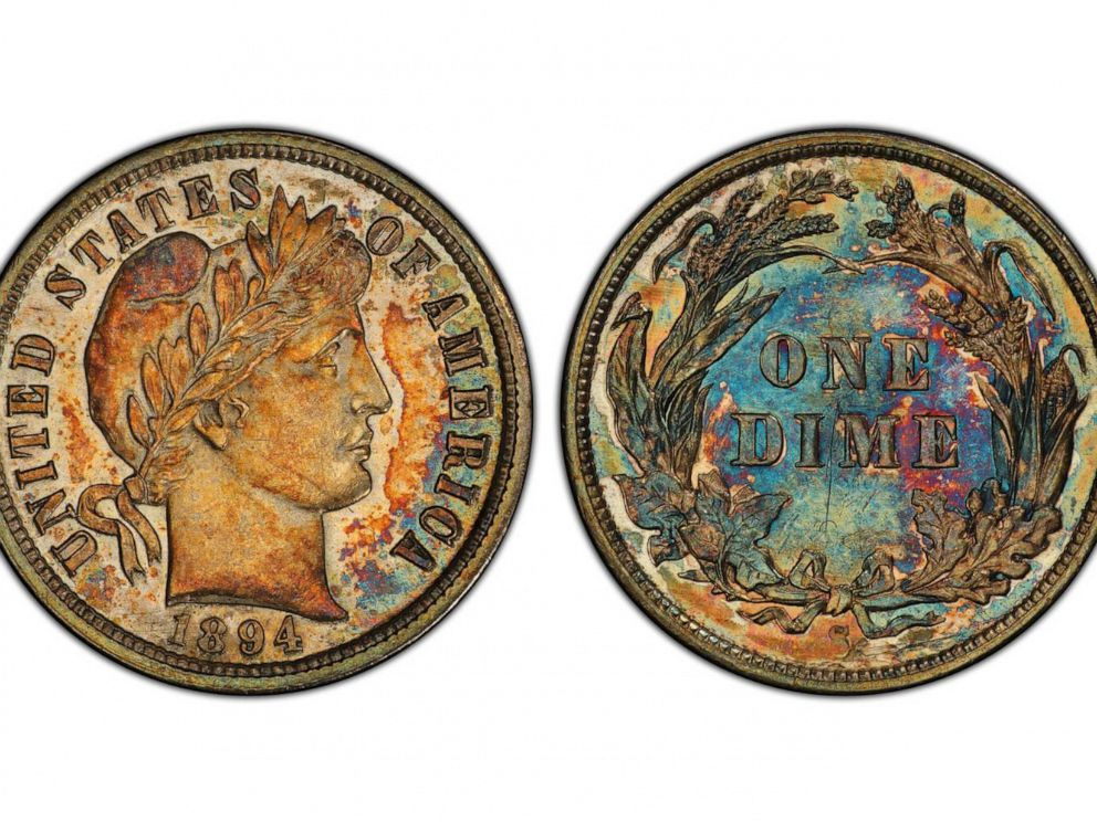 PHOTO: A 1894-S Barber dime sold for over $1.3 million at Stacks Bowers Galleries. The coin is one of nine survivors from the original 24-piece mintage.