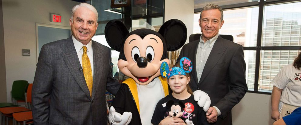 PHOTO: Mark A. Wallace, President and CEO of Texas Childrens Hospital, and Robert A. Iger of the Walt Disney Co., announced a plan to dedicate $100 million in Disney resources to benefit children and their families in hospitals.