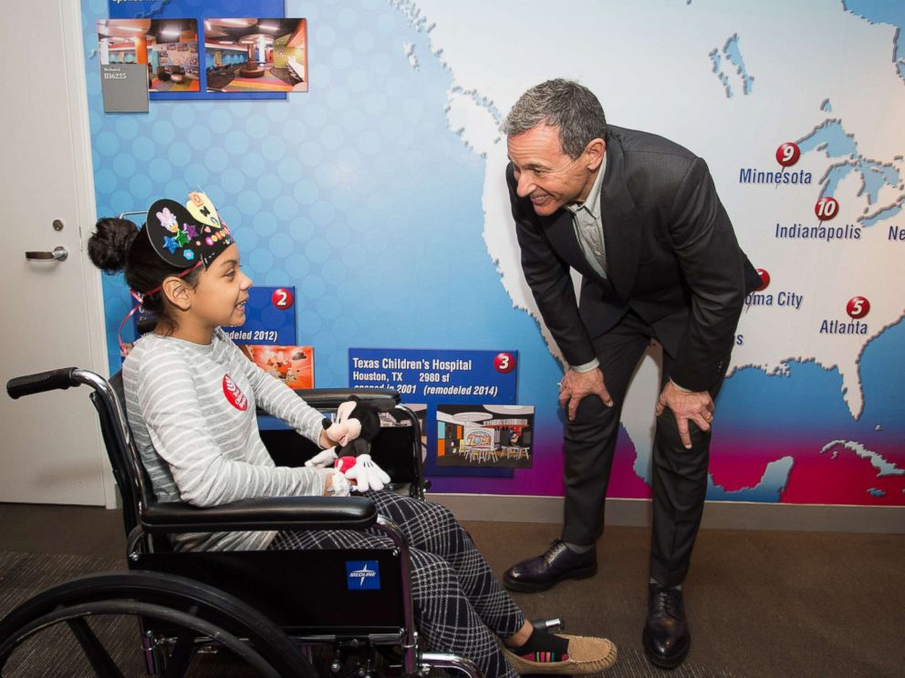 PHOTO: Robert A. Iger, chairman and chief executive officer of the Walt Disney Co., announced a plan to dedicate $100 million in Disney resources to benefit children and their families in hospitals, March 7, 2018.