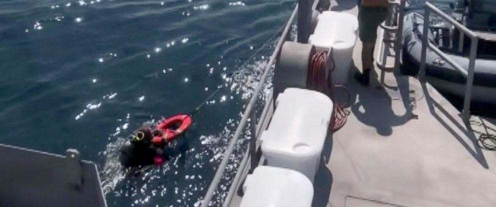 PHOTO: Authorities rescued an experienced diver who had spent an entire night lost at sea in the Gulf of Mexico off the coast of Hudson, Florida, Aug. 23, 2018.