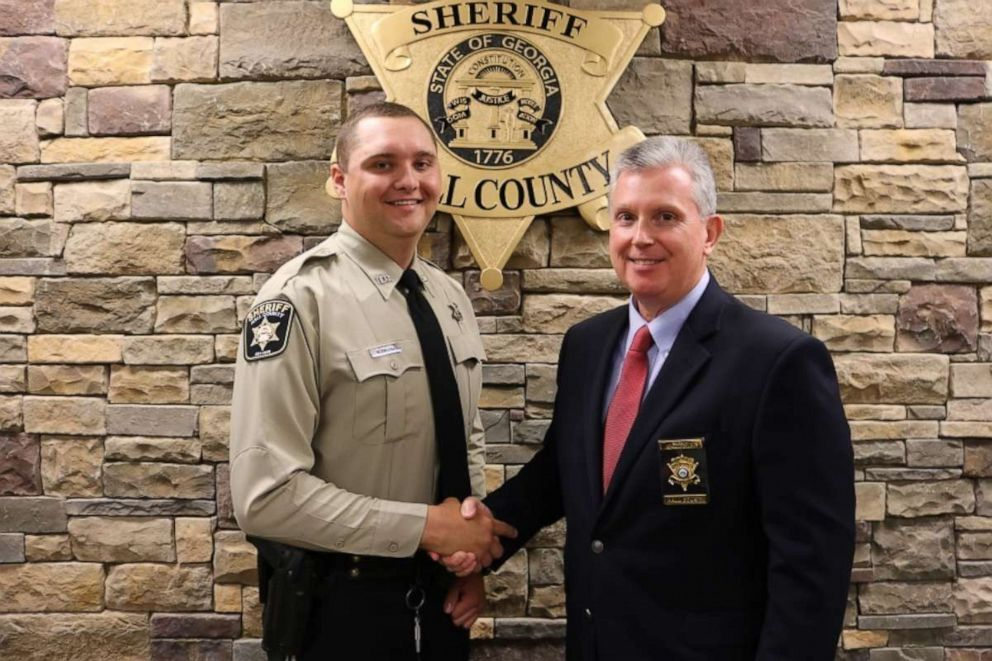 PHOTO: Hall County Sheriffs Deputy Nicolas Dixon with Sheriff Gerald Couch.