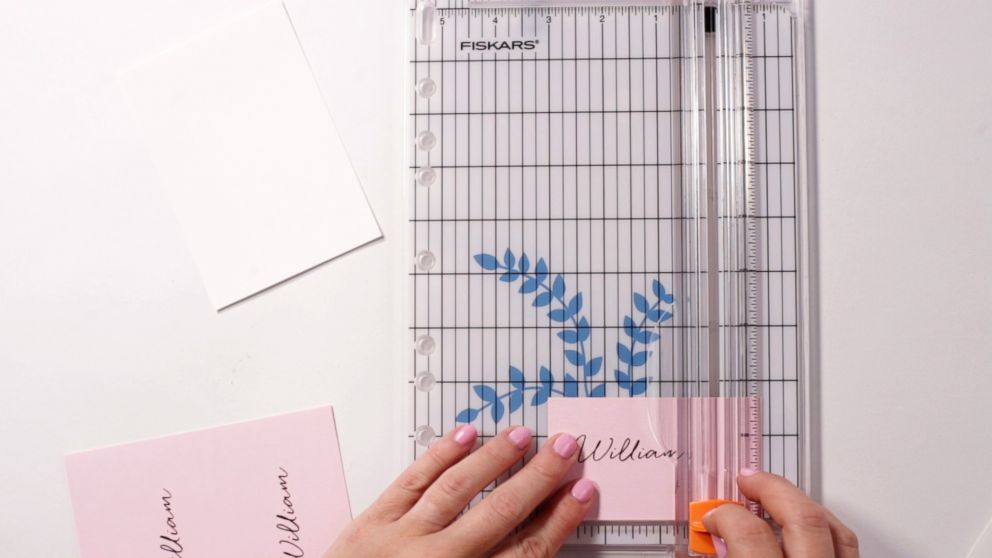PHOTO: DIY wedding place card materials.