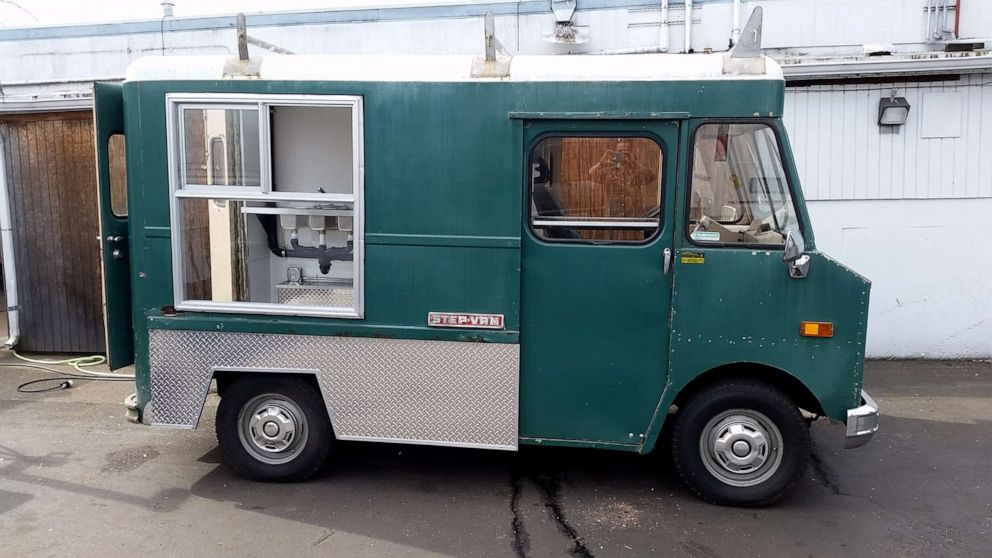 PHOTO: The original Buster maintenance truck, prior to the Fords renovating and retrofitting it into a dog food truck.