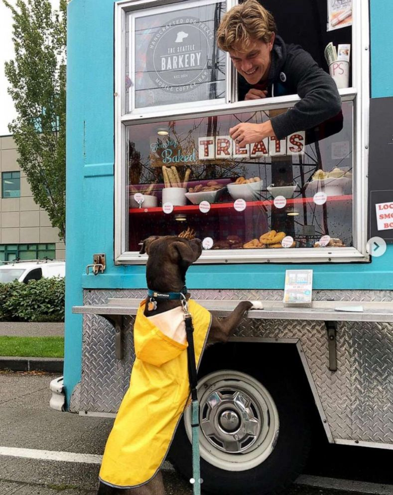 PHOTO: Michal Perlstein said her dog Clio loves visiting the dog food truck and eating her doggy sundaes.