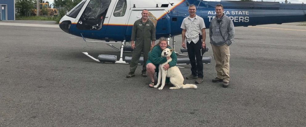 PHOTO: Amelia Milling was rescued by a trained husky, Nanook, who stayed by her side until Alaska State Troopers arrived at her location.