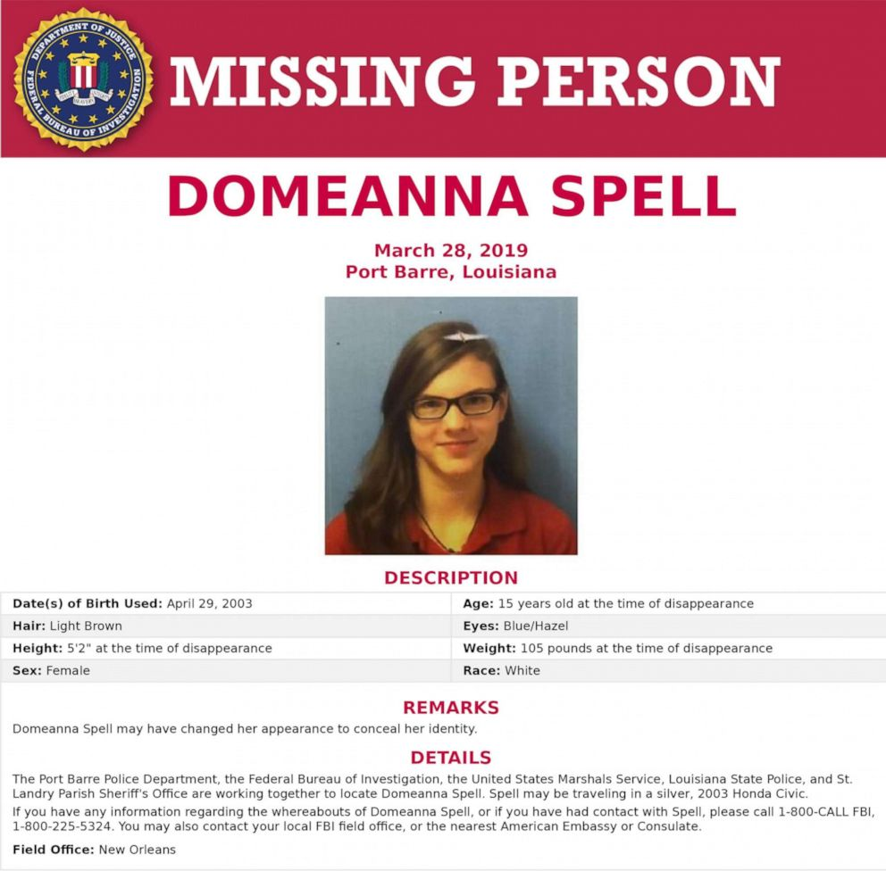 Domeanna Spell is pictured in this poster released by the FBI.
