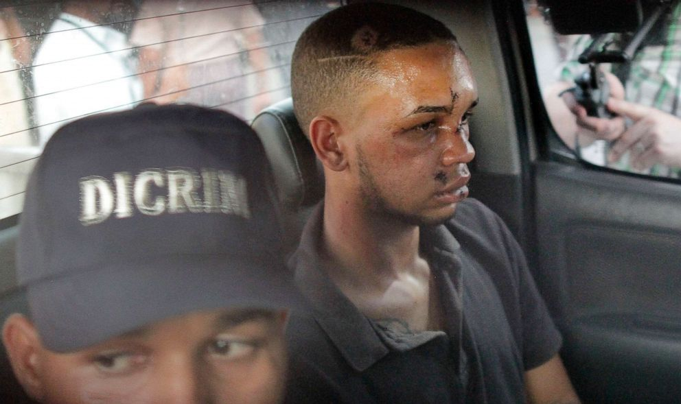 PHOTO: Eddy Vladimir Feliz Garcia, in custody in connection with the shot of the former Boston Red Sox slugger David Ortiz, is transferred by police to the court in Santo Domingo, Dominican Republic on June 11, 2019.