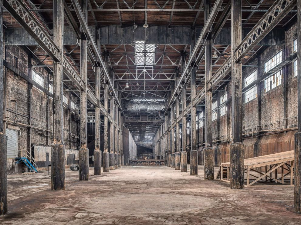 PHOTO: A view looking south from the north end of the raw sugar warehouse.