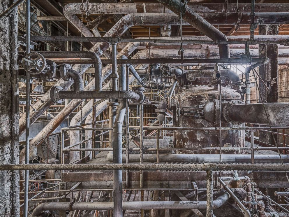 PHOTO: The boiler house of the Domino Sugar Refinery.