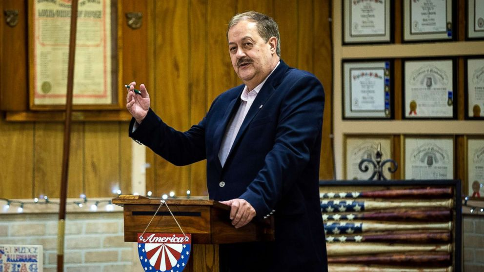 Don Blankenship, a former West Virginia coal mining executive and current Republican Senate candidate, campaigns in Keyser, W. Va., on April 20, 2018.