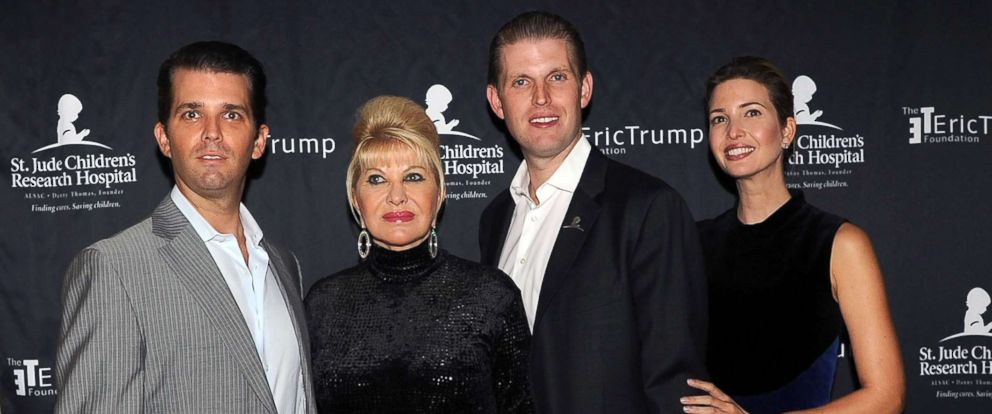 PHOTO: Donald Trump Jr., Ivana Trump, Eric Trump and Ivanka Trump attends the 9th Annual Eric Trump Foundation golf invitational at Trump National Golf Club Westchester, Sept. 21, 2015, in Briarcliff Manor City.