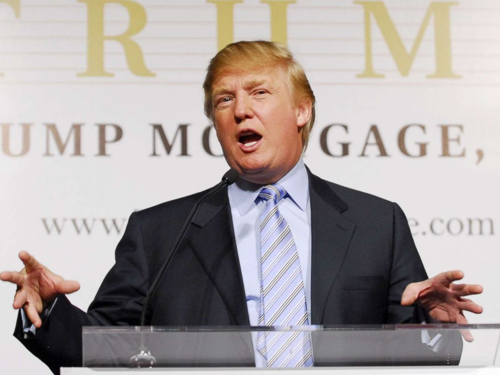 PHOTO: Donald Trump during speaks during a press conference in New York, April 4, 2006.
