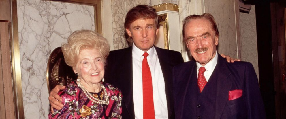 PHOTO: Donald Trump with his parents Mary and Fred Trump in 1994.